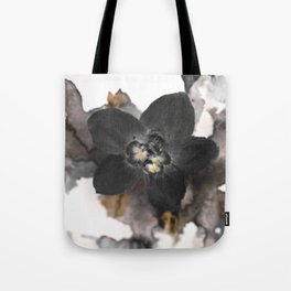 Black Orchid Flower on Watercolor 5031 Tote Bag