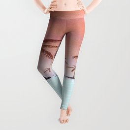 Tropical Island With Palm Trees Leggings
