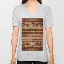 -A24- African Moroccan Traditional Artwork. Unisex V-Neck