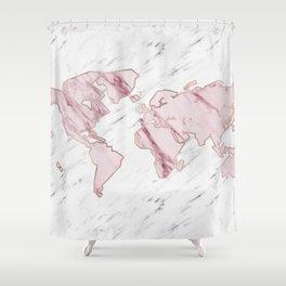 Wanderlust marble - pink stone Shower Curtain