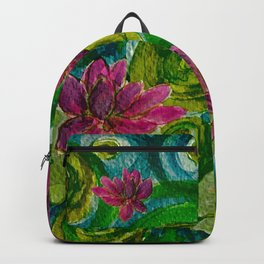 Green Lily Pads Backpack