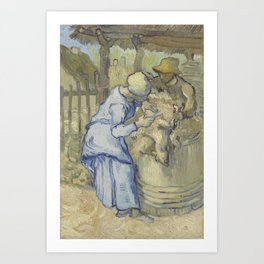 The Sheepshearer (after Millet) Art Print