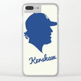 Clayton Kershaw Clear iPhone Case