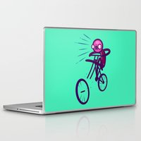 cycling Laptop & iPad Skins featuring Cycling Disaster by Artistic Dyslexia