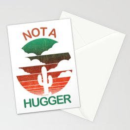 Not A Hugger T Shirt Funny Shirt Cactus Sarcastic Tees Retro Tee Stationery Cards