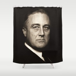 Franklin D. Roosevelt, about 1932 Shower Curtain
