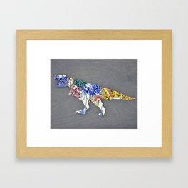 Recycled China Dinosaur Framed Art Print