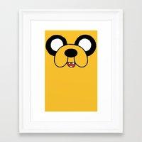 jake Framed Art Prints featuring Jake by J Styles Designs