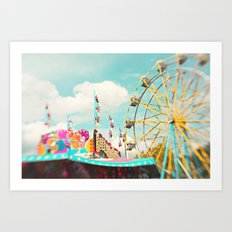summer carnival fun Art Print