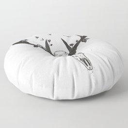 Neverending love (bw) Floor Pillow