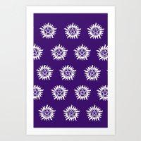 pentagram Art Prints featuring Pentagram by Fandom GoodieZ