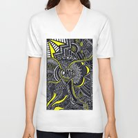 chaos V-neck T-shirts featuring Chaos by Lauren Moore