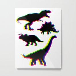 Dinosaur CMYK Metal Print