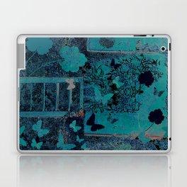 butterflies_I turquoise Laptop & iPad Skin
