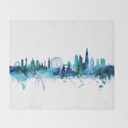 London England Skyline Throw Blanket