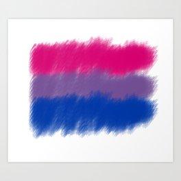 Bi Pride Flag Art Print