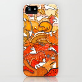 Orange Dinosaur Gradient iPhone Case