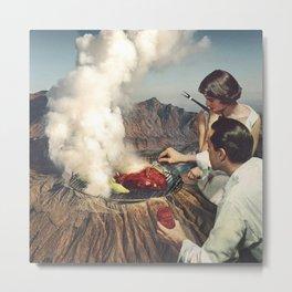 On A Good Day - Volcano BBQ Metal Print