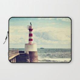 Amble Pier Lighthouse Laptop Sleeve