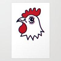 Chicken Shop T Art Print