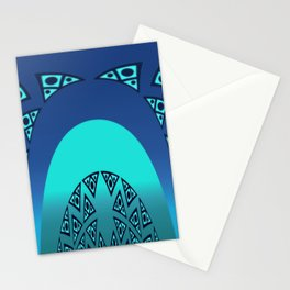 Orgy in blue pattern Stationery Cards