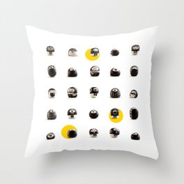 stoneheads 002 Throw Pillow