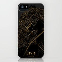 Levis, Canada - Gold iPhone Case