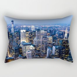 Lower Manhattan From the Empire State Building Rectangular Pillow