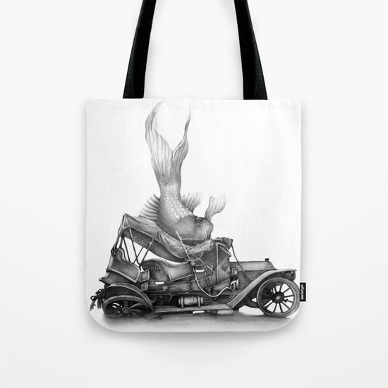 In which a goldfish spoils an outing Tote Bag