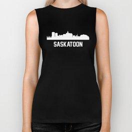 Saskatoon Saskatchewan Canada Skyline Cityscape Biker Tank