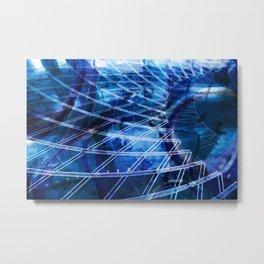 Balance blue Colors with Stripes Metal Print