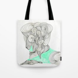 the  lined man Tote Bag