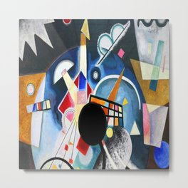 Wassily Kandinsky One Center Detail Metal Print