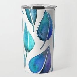 Cascading Leaves – Blue Palette Travel Mug