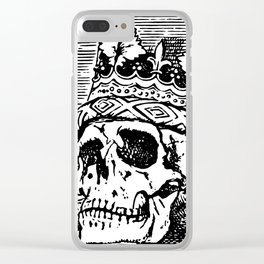 Skull with Crown Clear iPhone Case