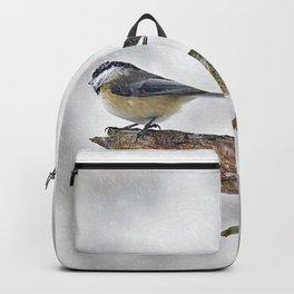 Chickadee Versus Winter Storm Stella Backpack
