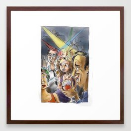 Rock Down to Electric Avenue Framed Art Print