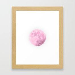 COTTON CANDY PINK MOON Framed Art Print