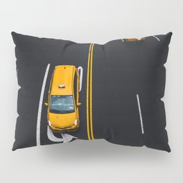 Taxi on the Street (Color) Pillow Sham