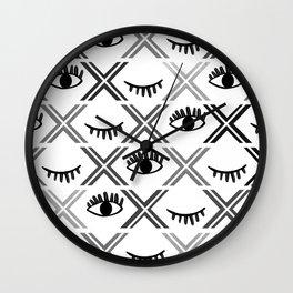 Original Black and White Eyes Design Wall Clock