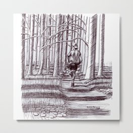 Trail Runnr Metal Print