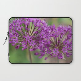 Purple Allium Twins Laptop Sleeve