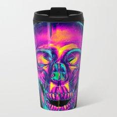 Trippy Skull Metal Travel Mug