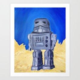 Tin Bot Art Print