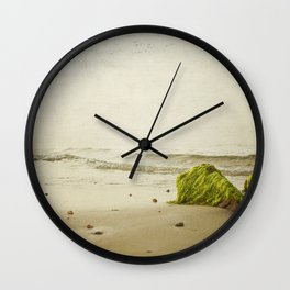the beach rocks Wall Clock