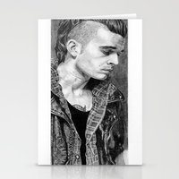 matty healy Stationery Cards featuring Matty Healy by rachelmbrady_art