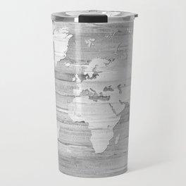 Design 119 Grayscale World Map Travel Mug