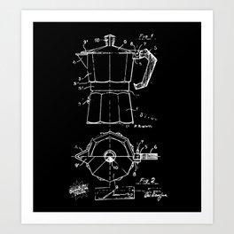 Cafetera Xrays Part 2 Art Print