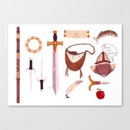 Xena Inventory Canvas Print