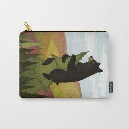 Leaf Peeper Black Bear Autumn Carry-All Pouch